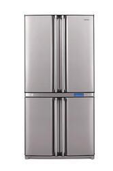 Холодильник с морозильником Sharp SJF91SPSL серебристый