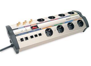 Сетевой фильтр Monster Cable HTS 1000 серебристый, черный