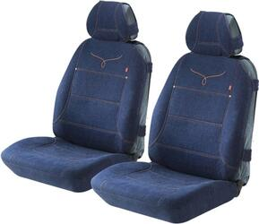 Накидка на сиденье H&R SPIN FRONT передняя, джинс. тк., синяя