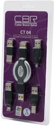 Переходник CBR CT04 USB A/M-AF - USB Am-mini 5P черный