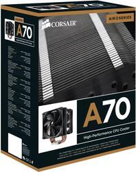 Кулер Corsair A70 (AlCu, 4 трубки,1600 - 2000 rpm, TDP- 185w 50 - 61 CFM) Socet:775/LGA1156/LGA1366/AM2/AM3