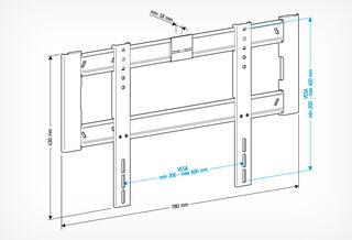 Кронштейн для телевизора Holder LCD-F6604-B