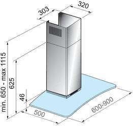 Вытяжка каминная Korting KHC 6972 X серебристый