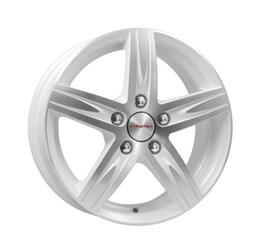 Автомобильный диск литой K&K Андорра 6x15 5/105 ET 39 DIA 56,6 Алмаз вайт