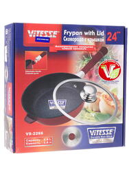 Сотейник Vitesse VS-2266 красный