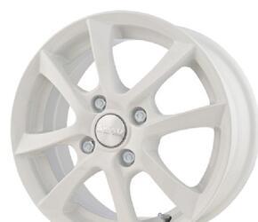 Автомобильный диск литой Скад Волна 5,5x14 4/98 ET 49 DIA 56,6 белый