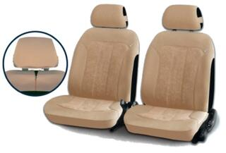 Чехол на сиденье H&R TREND FRONT передний, алькантара велюр, бежевый