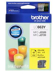 Картридж струйный Brother LC-663Y