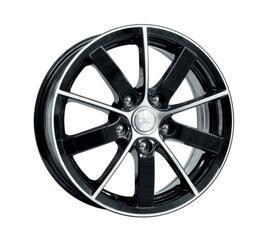 Автомобильный диск литой K&K Питер AL 6x15 5/105 ET 39 DIA 56,6 Алмаз черный