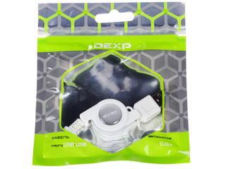 Кабель DEXP 0804637 USB - micro USB белый