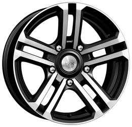 Автомобильный диск  K&K Палладика 7x16 5/139,7 ET 5 DIA 98 Алмаз черный