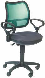 Кресло офисное Бюрократ CH-799 серый, зеленый