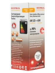 Лампа светодиодная Supra SL-LED-PR-CN-6W/3000/E14