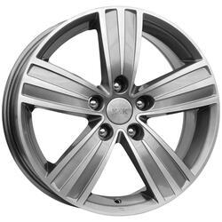 Автомобильный диск литой K&K да Винчи 7x16 5/114,3 ET 43 DIA 67,1 Алмаз аргентум