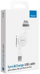 Кабель Deppa 72100 30-pin - USB белый