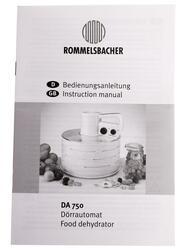 Сушилка для овощей и фруктов Rommelsbacher DA 750 белый