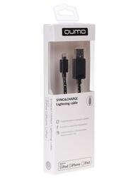 Кабель Qumo USB - MFI Lightning 8-pin черный