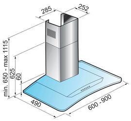 Вытяжка каминная Korting KHC 9954 X серебристый