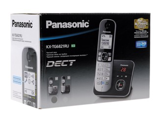 Телефон беспроводной (DECT) Panasonic KX-TG6821RUM