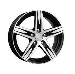 Автомобильный диск литой K&K Андорра 7,5x18 5/112 ET 40 DIA 66,6 Алмаз черный