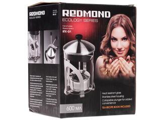 Френч-пресс Redmond RTK-G1 черный, серебристый