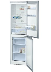 Холодильник с морозильником BOSCH KGN39VL14R серебристый
