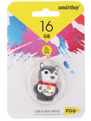 """Память USB Flash Smartbuy Wild Series """"Dog grey"""" 16 Гб"""