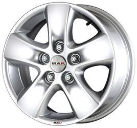 Автомобильный диск Литой MAK HD2 6,5x16 5/130 ET 68 DIA 78,1 Hyper Silver