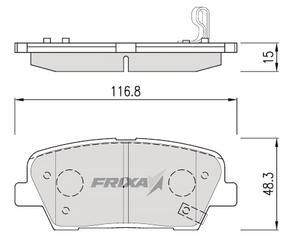Тормозные колодки Hankook Frixa FPK26R