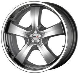 Автомобильный диск литой MAK G-Five 9x20 5/120 ET 20 DIA 74,1 Hyper Silver Steel Lip