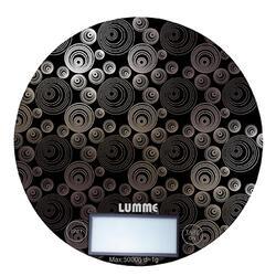 Кухонные весы Lumme LU-1317 Черный/орнамент