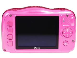 Компактная камера Nikon Coolpix S33 розовый + рюкзак