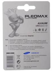 Батарейка Samsung Pleomax LR03-2BL