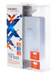 Портативный аккумулятор TeXet TPB-2113 белый