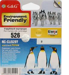 Картридж струйный G&G NC-CLI526Y