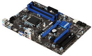Плата MSI LGA1155 ZH77A-G41 H77 4xDDR3-2400 2xPCI-Ex16 HDMI/DSub 8ch 2xSATA3 RAID 2xUSB3 GLAN ATX