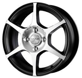 Автомобильный диск Литой Скад Ягуар 5,5x14 4/98 ET 38 DIA 58,6 Алмаз матовый