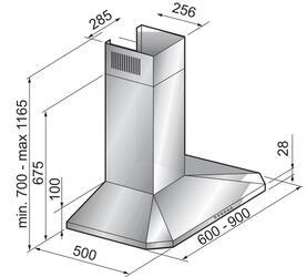 Вытяжка каминная Korting KHC 6951 X серебристый