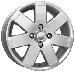 Автомобильный диск Литой K&K КС415 6x15 4/108 ET 52,5 DIA 63,3 Сильвер