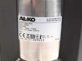 Погружной насос AL-KO Drain 15000 Inox