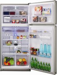Холодильник с морозильником Sharp SJSC55PVSL серебристый