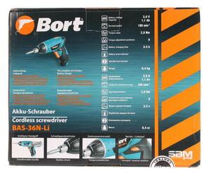 Аккумуляторная отвертка BORT BAS-36N-Li