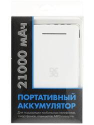 Портативный аккумулятор DF Pro-02 белый, черный
