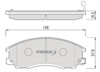 Тормозные колодки Hankook Frixa FPH12