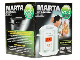 Мультиварка Marta MT-1968 серебристый, черный