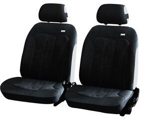 Чехол на сиденье H&R TREND FRONT передний, алькантара велюр, черный