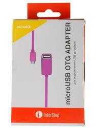 Кабель OTG InterStep IS-DC-COTGMFTRO-000B201 USB-host - micro USB розовый