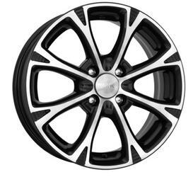 Автомобильный диск Литой K&K Блюз 6x15 4/108 ET 27 DIA 65,1 Алмаз черный