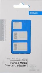 Адаптер Deppa nano-SIM - micro-SIM белый