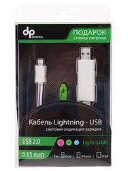 Кабель DIOPRO USB - Lightning 8-pin белый, розовый